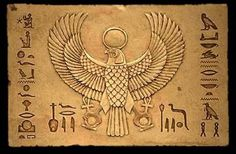 Winged Falcon god Horus