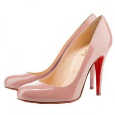 Christian Louboutin Ron Ron 100 Patent Leather Pumps Nude