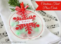 Christmas Treat Place Cards | A Spoonful of Sugar