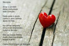Memória, Carlos Drummond de Andrade