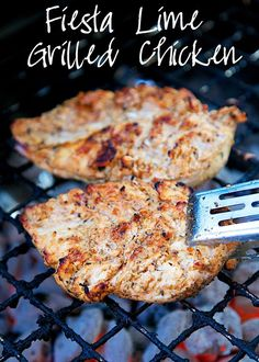 Mexican Lime Grilled Chicken Recipe - Fiesta Lime Grilled Chicken - chicken marinated in lime juice and Mexican spice blend. Super juicy and packed with tons of flavor! Great Mexican Recipe.