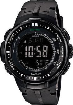 Men's Casio ProTrek Triple Sensor I think I want this watch too. I love the blacked out design and LED backlight.