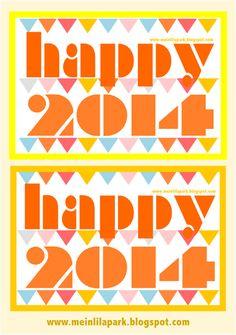 FREE Happy New Year 2014 printables