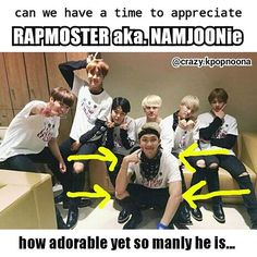 He is so adorable and manly at the same time! Like how Rapmon? What is adorable and manly put together? Adorly? Manorable? NO!.. Namjoon ahaha ❤ #BTS #방탄소년단