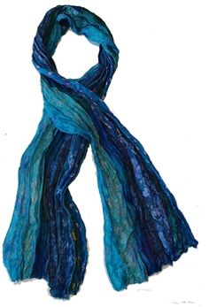 Made from vintage saris in India. These scarves make a #unique gift for her.