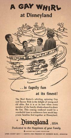 A vintage ad for Disneyland.