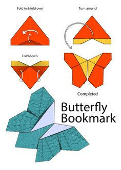 So here it is, how to fold the butterfly bookmark, finally! This printable will…