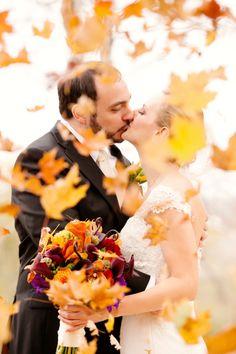 Purple and Orange New England Fall Wedding Ideas | Heart Love Weddings