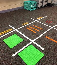 Decomposing Numbers Math Center Games - A Kinderteacher LifeWhat about algebra tiles on the floor in the middle of the room instead of at the board? Fourth Grade Math, Second Grade Math, Sixth Grade, Grade 2, Math Games, Math Activities, Place Value Activities, Maths 3e, Math Place Value