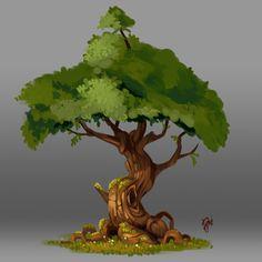 Tree 1. Concept Art of Nature by Raki Martinez on ArtStation.