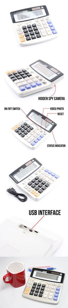 Calculator with Hidden Spy Camera http://www.usbgeek.com/products/calculator-spy-cam