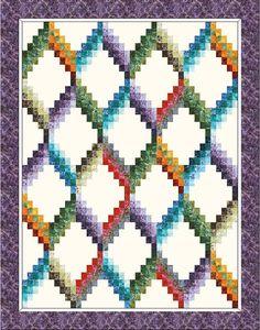 Quilt Project using Elementals: Nature - Artisan Batiks designed by Debra Lunn & Michael Mrowka. Robert Kaufman Fabrics is the worldwide supplier of Artisan Batiks.
