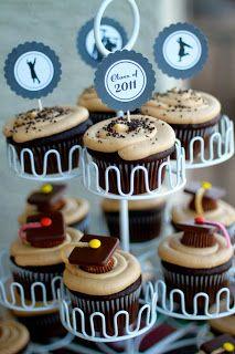 Domestic Charm: Graduation Cupcakes