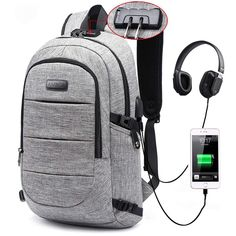 Laptop Backpack, Business Anti Theft Waterproof Travel Backpack with USB Charging Port & Headphone interface for College Student for Women Men,Fits Under 17 Inch Laptop Notebook by AMBOR by AMBOR Best Laptop Backpack, Travel Backpack, Laptop Bag, Computer Backpack, Laptops For Sale, Best Laptops, Tough Laptops, Laptops Cheap, Diaper Bag