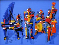 """""""Cuarteto Mondrian"""", 2008 óleo sobre tela 80 x 100 cm"""