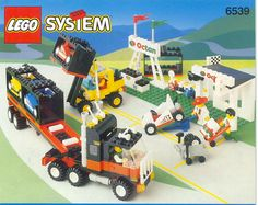 Lego 4, Cool Lego, Lego Projects, Projects For Kids, Classic Lego Sets, Formula 1, Lego Boxes, Lego Truck, Lego Display