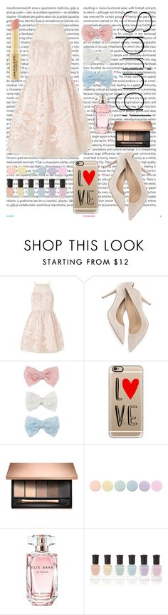 """Spring Is The Best Season"" by jessicawednesday ❤ liked on Polyvore featuring Oris, Lipsy, Decree, Casetify, Deborah Lippmann, Elie Saab and Napoleon Perdis"