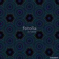 Hintergrund Mandala Kreise in Schwarz Blau Türkis, dekoratives Bild für Hypnose, Meditation, Esoterik, Mystik, Kaleidoskop, Ornament, Kachel, abstrakt, Kunst, Homepage, Symbole