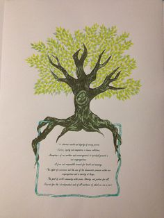 Unitarian Universalist Tree of Principles by myendlesssummers, $36.00