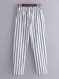 Wedding Guest Pants, Salwar Pants, Kurta Designs Women, Salwar Designs, How To Hem Pants, Rolled Hem, Vertical Stripes, Pants Pattern, Cotton Pants