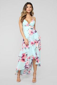 b7516d0704a7d Lulus | Darling Date Navy Blue Floral Print Ruffled Wrap Midi Dress ...