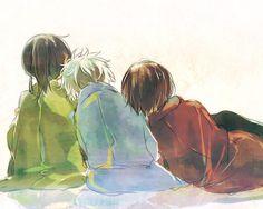 ( - ﹃ -)ノ Anime Chibi, Anime Art, Gintama Funny, Gintama Wallpaper, Silver Samurai, Comedy Anime, Okikagu, Beautiful Stories, Me Me Me Anime