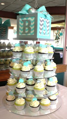 My baby shower cake and cupcakes. Cakes by Candus! Amazing :)