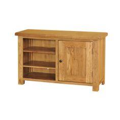 Rustic Solid Oak SRDE20 Standard TV Video Cabinet   www.easyFurn.co.uk