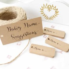 Baby Name Suggestions Set  Baby Shower Favours  by flavourbox