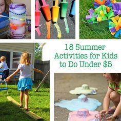 18 Summer Activities for Kids to Do Under $5