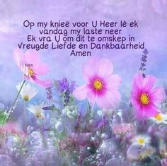 Goeie Nag, Goeie More, Afrikaans Quotes, Inspirational Qoutes, Good Morning Wishes, Amen, Prayers, Blessed, Life Quotes