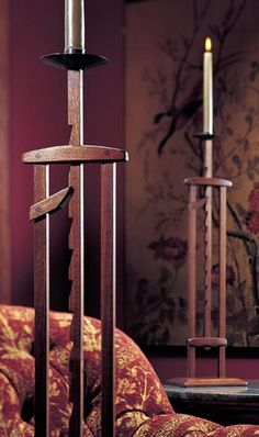 Both decorative and functional, this antique design retains its warm glow and pleasant appearance.  Our design is based on an antebellum original. - See more at: https://www.woodstore.net/plans/gifts/lighting/2417-Ratcheting-Candlestand.html#sthash.35Uom5GH.dpuf