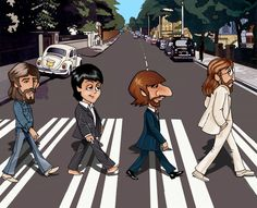 The Beatles Photo: abbey road scetch Les Beatles, Beatles Art, Beatles Photos, Beatles Albums, Abbey Road, Funny Caricatures, Celebrity Caricatures, Ringo Starr, John Lennon