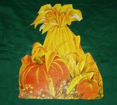 "1969 Eureka 'Corn Shocks' Die Cut Decoration. Four Sizes: 6 3/4"", 11"", 16"", 24"""