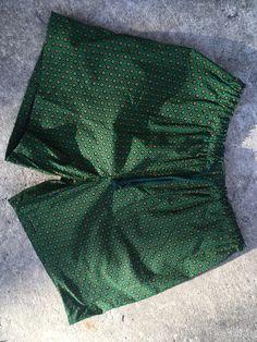 Green Shweshwe Handmade Shorts