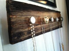 Rustic Jewelry Display. $45.00, via Etsy.......But how easy would this be to make yourself!? Will post later -SP