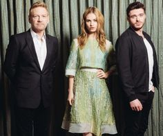 "In this Monday, March 2, 2015 photo, from left, Kenneth Branagh, Lily James, and Richard Madden pose for a portrait during press day for ""Cinderella"" at the Montage Hotel in Beverly Hills, Calif. Branagh takes a stab at the centuries old tale of ""Cinderella"" in Disney's latest live action adventure, with television actors James (""Downton Abbey"") and Madden (""Game of Thrones"") leading the intoxicating, fresh and entirely modern update of the classic fairy tale. The movie opens on Friday…"