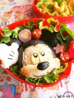 Mickey bento      #lunchbox #bento