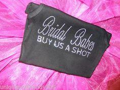 Bridesmaid Bride Bachelorette Party Crystal Rhinestone Iron on for Shirt Tote | eBay