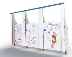 unicorn and fairy princess design for school cubicles