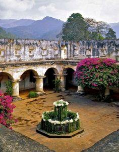 Antigua Guatemala, Santa Clara's stunning courtyard.  ©1998 Lynn Herrmann