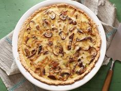 Caramelized Onion, Mushroom and Gruyere Quiche with Oat Crust
