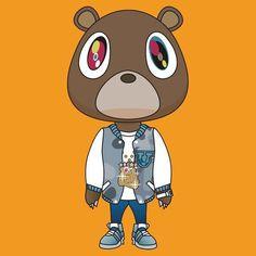 Kanye west bear from his albums Kanye Tattoo, Kanye West Bear, Kanye West Wallpaper, Kanye West Albums, Graduation Bear, Takashi Murakami, West Art, Bear Wallpaper, Dope Art