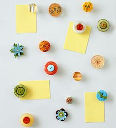 Use Scrapbooking Supplies to Make Custom Magnets    http://www.scrapbooksetc.com/crafts/home-decor/home-decorating-ideas/?page=18