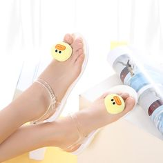 South Korea Ulzzang Cute Bear Rabbit Jelly Flip Flops Schoolgirl Harajuku  Fruit Lemon Flats Jelly Sandals f38caf4eb
