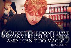 Rupert Grint about Ron