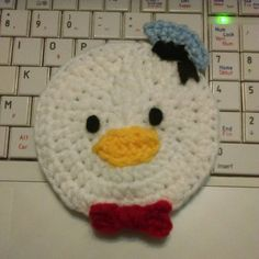 Disney Donald Duck Crochet Coaster Pattern