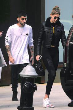 "runwayandbeauty: "" Gigi Hadid & Zayn Malik out in New York, May 7, 2016. """