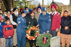 Captain Prabhjot Singh Dhanoa, 25th Field Ambulence, Canadian Forces, Flight Corporal Gurpreet Kaur Banga, Royal Canadian Air Cadets Flight, Corporal Gagandeep Kaur Banga, Royal Canadian Air Cadets at the 2009 Sikh Remembrance Day Ceremony sponsored by SikhMuseum.com