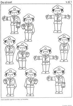 kleurplaat politie